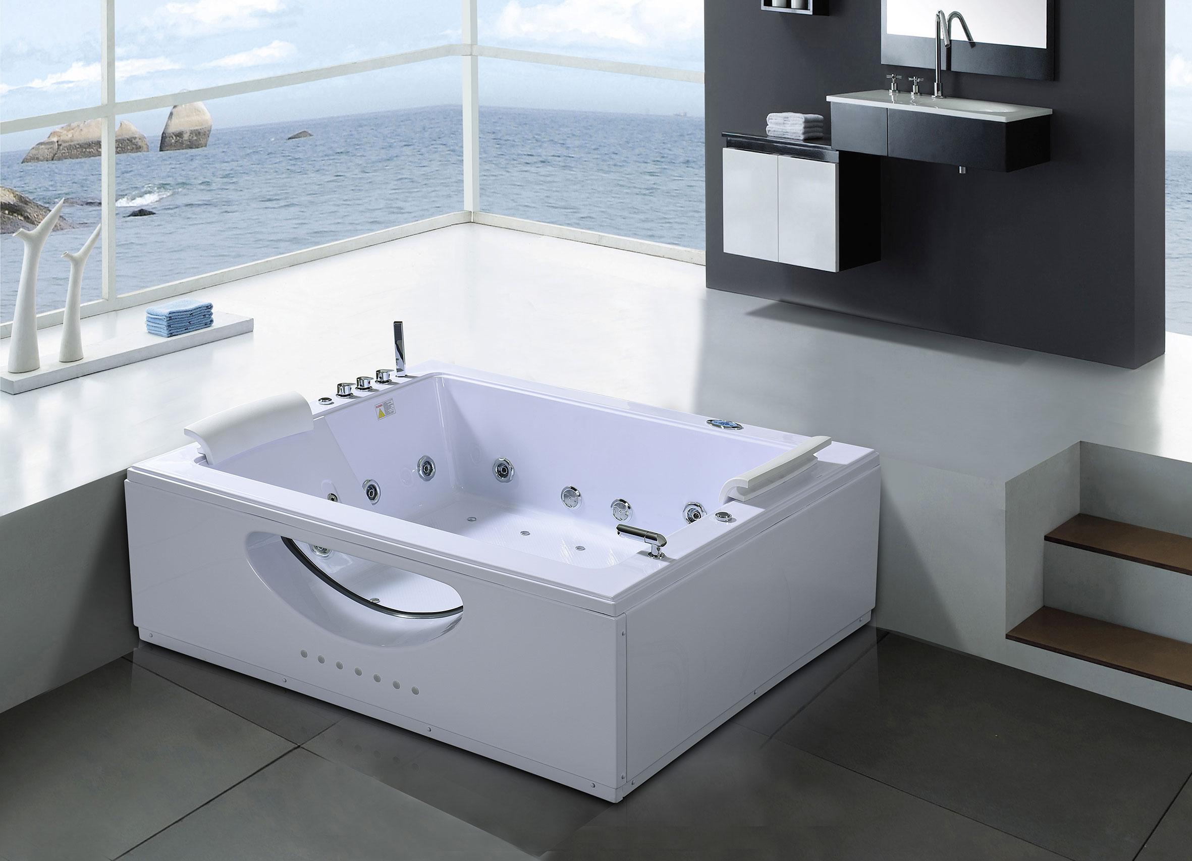 Vasca Da Bagno Enorme dettagli su vasca da bagno idromassaggio spa cromoterapia doppia pompa 178  x 147cm bali