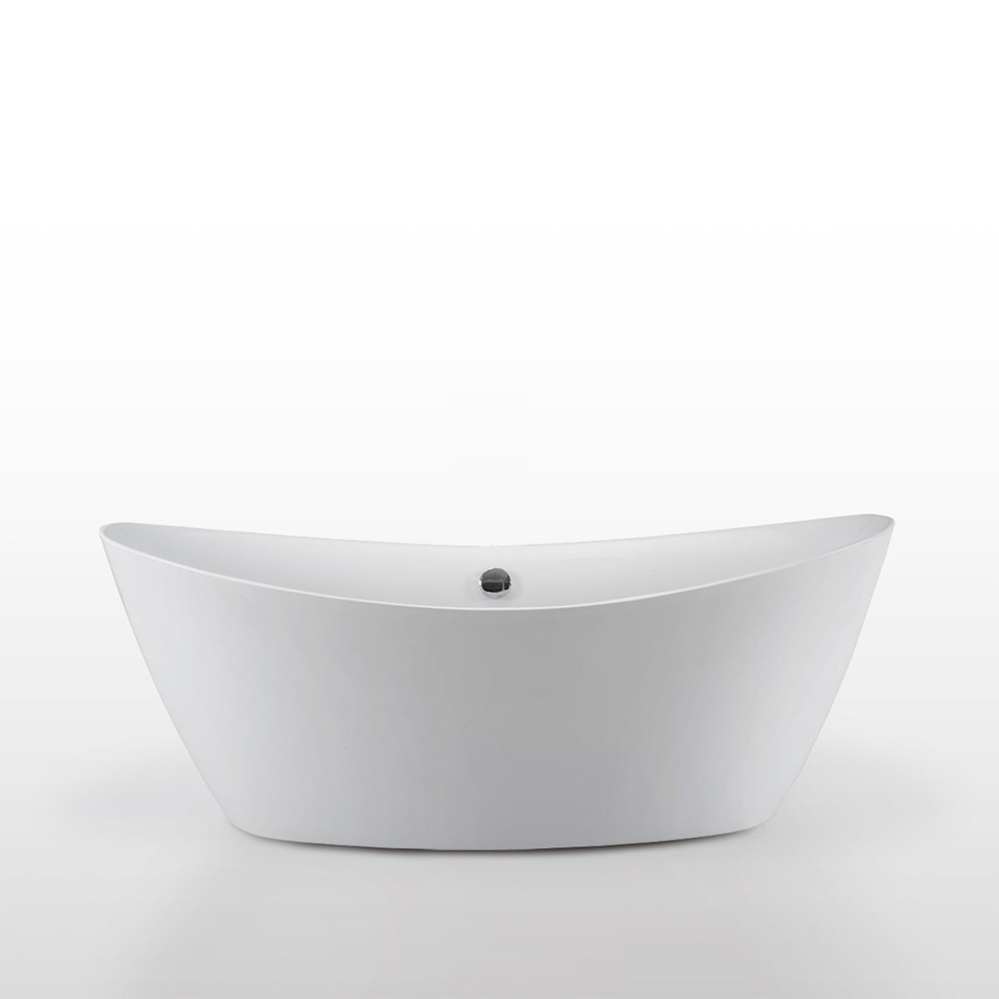 Baignoire Ilot Blanc Acrylique Moderne Design 180 X 80 Cm Mod