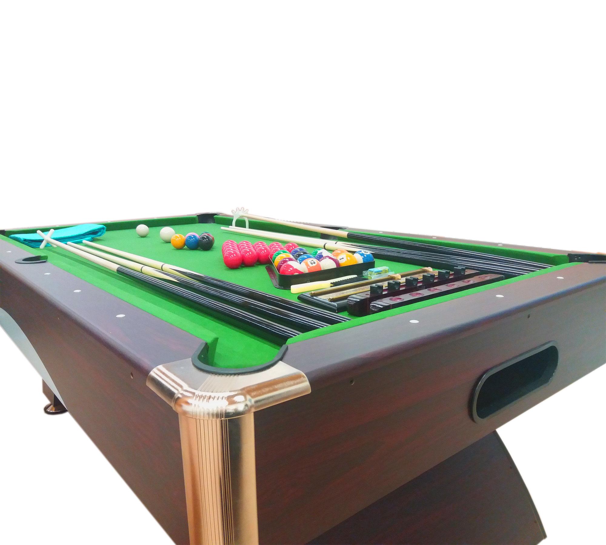 Tavolo da biliardo 8 ft accessori per carambola snooker 220 x 110 cm leonida ebay - Misure tavolo da biliardo ...