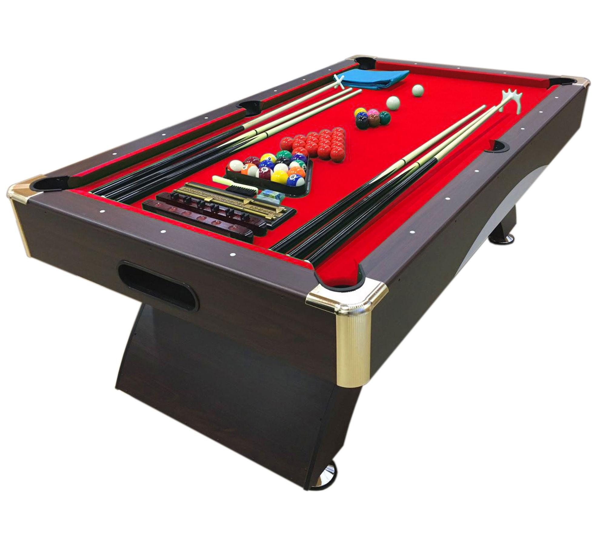 Mesa de billar juegos de billar pool 7 ft carambola full medici n 188 x 96 cm ebay - Medidas mesa billar ...
