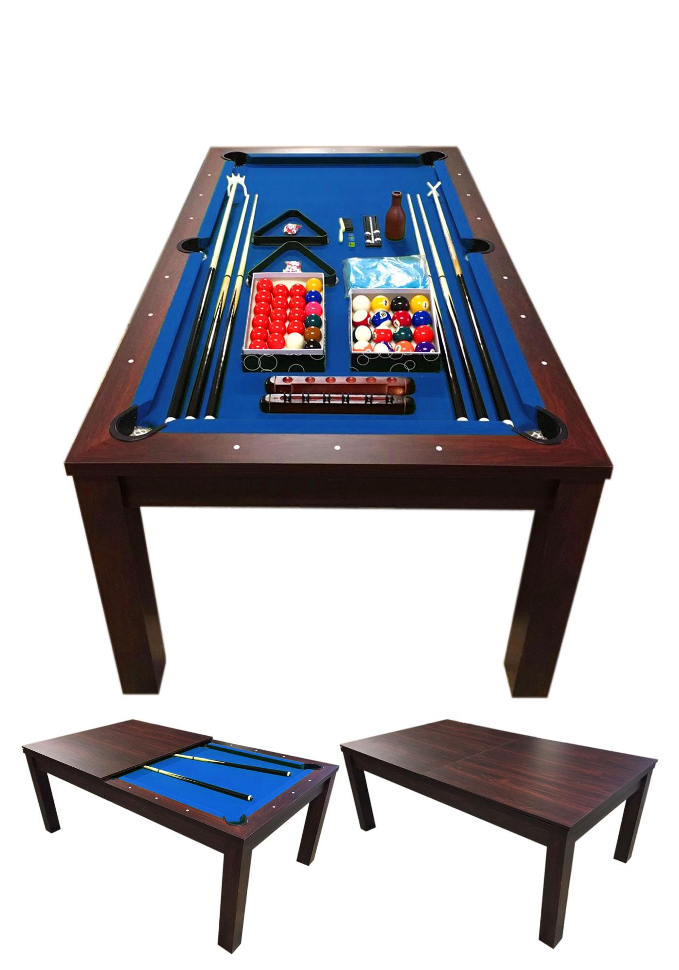 Tavolo da biliardo blu 7 ft accessori per carambola copertura inclusa blue sky ebay - Tavolo da biliardo professionale ...