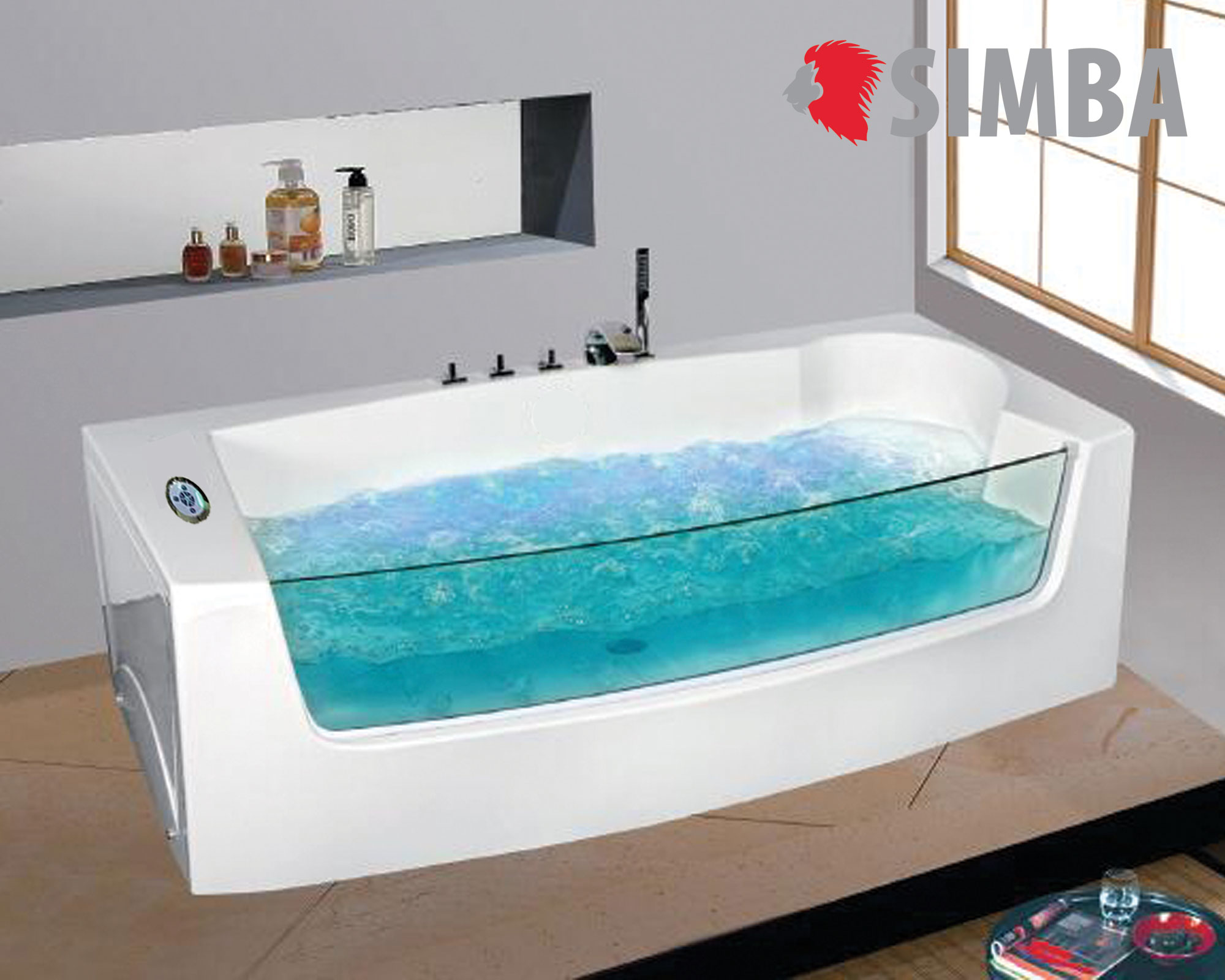 WHIRLPOOL BATH TUB SPA 180 x 90 cm BATH TUB HOT TUB Modelo Dorado ...
