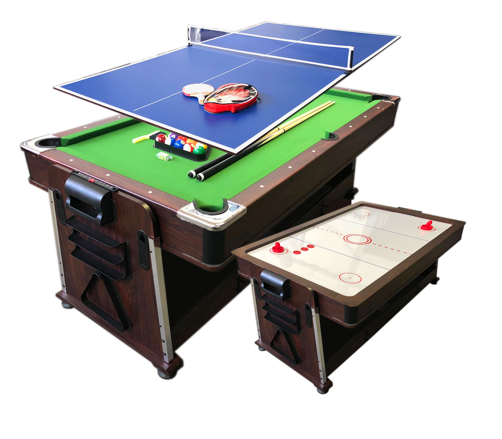Details about 7Ft Green Pool Table Billiard + Air Hockey + Tennis Table + Cover plan for table  sc 1 st  eBay & 7Ft Green Pool Table Billiard + Air Hockey + Tennis Table + Cover ...