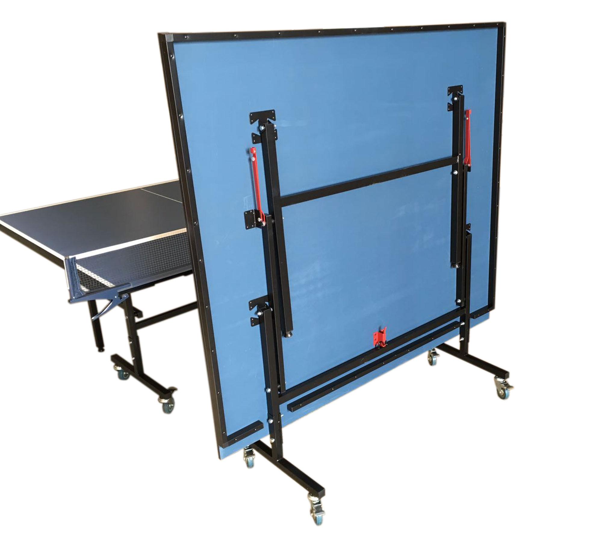 Tavolo ping pong professionale tennis da tavolo blue con rete modello roby ebay - Tavolo ping pong misure regolamentari ...