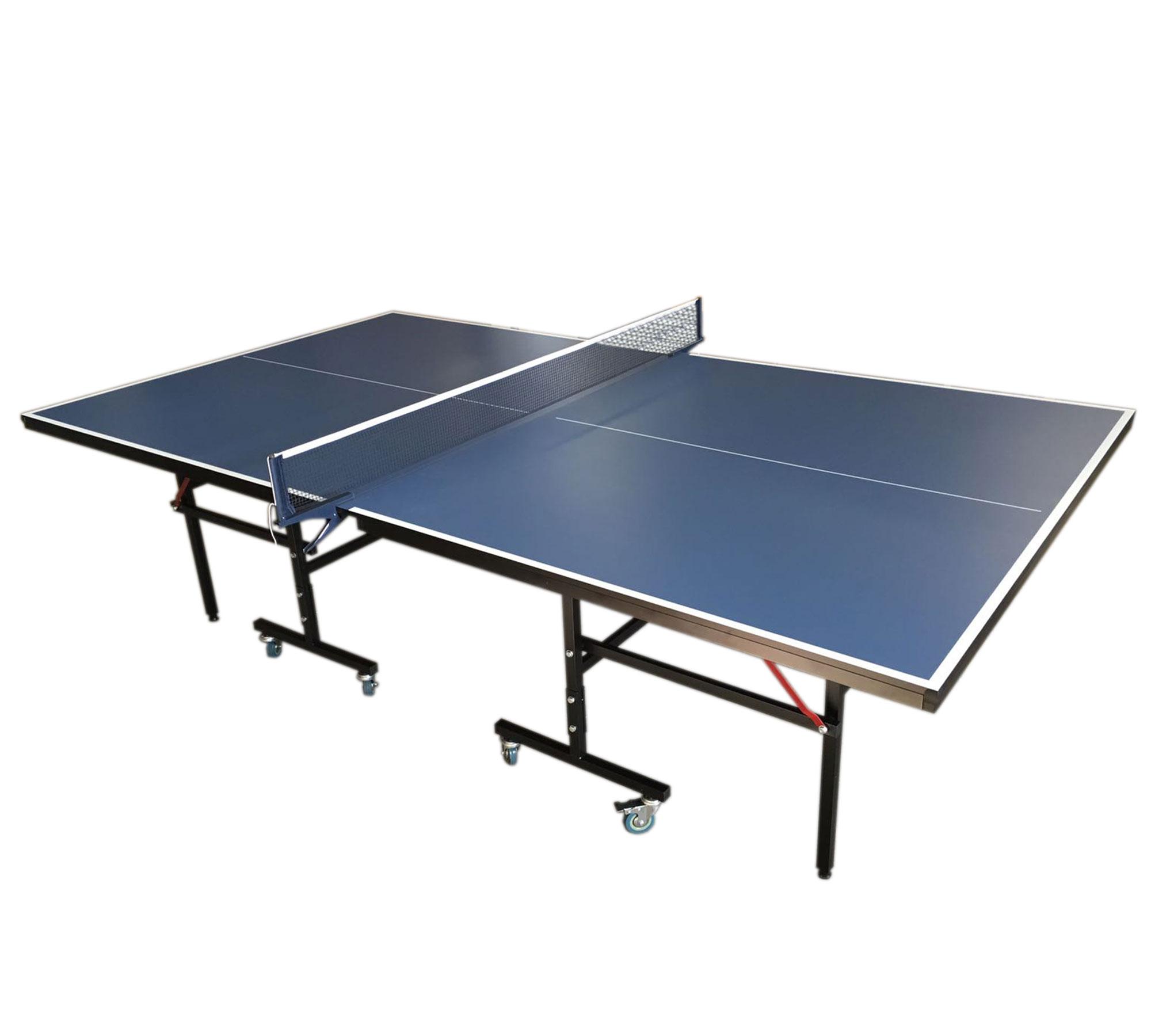Tavolo ping pong professionale di colore blu modello roby - Misure tavolo da ping pong professionale ...