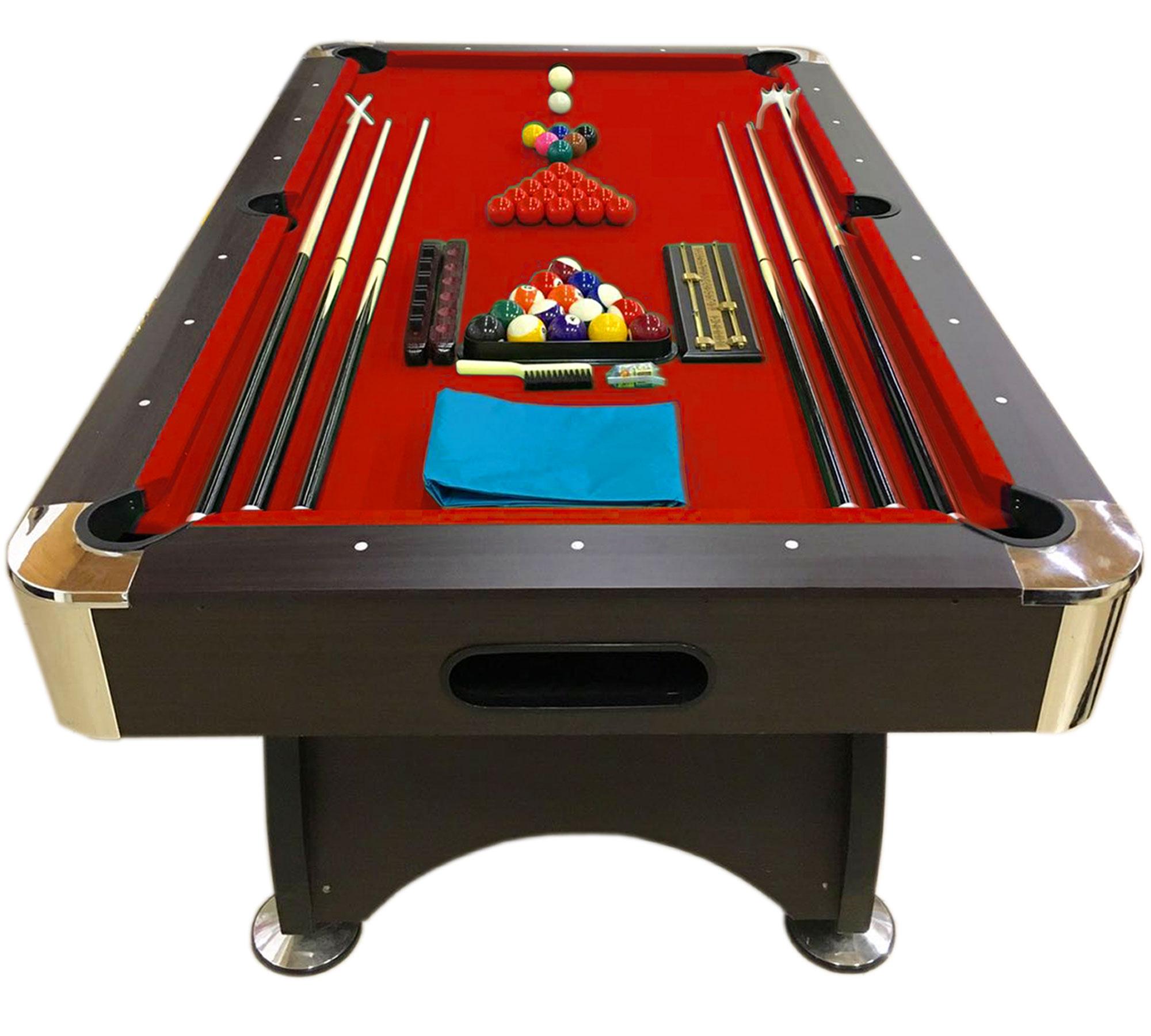 Tavolo da biliardo accessori per carambola snooker rosso billiard table 7ft ebay - Misure tavolo da biliardo ...