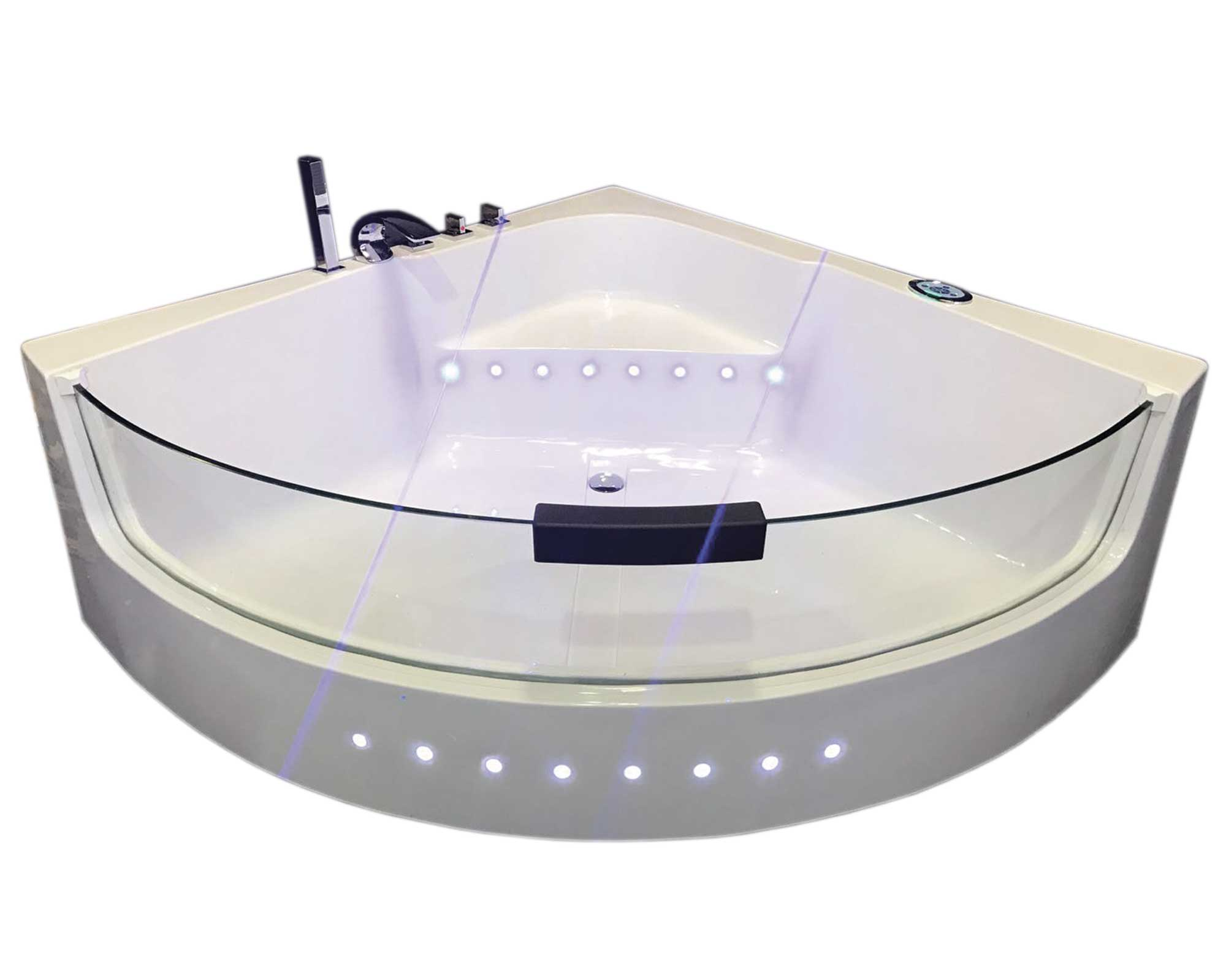WHIRLPOOL BATH TUB SPA White Shark CORNER BATH BATHTUB HOT TUB 140 x ...