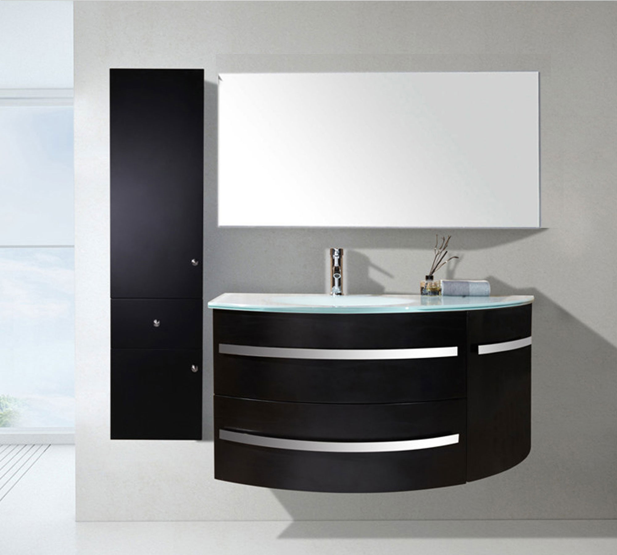 badm bel 120 cm badezimmerm bel badezimmer waschtisch schrank spiegel set b amba ebay. Black Bedroom Furniture Sets. Home Design Ideas