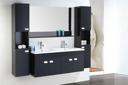 Mobile Bagno Arredo Bagno 120 cm Colonne e doppio lavabo inclusi - Elegance