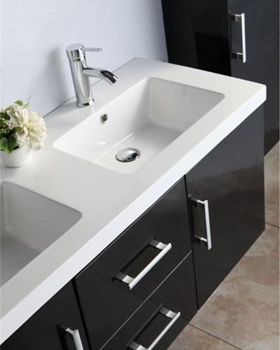 Mobile Bagno Arredo Bagno 120 cm Colonna e doppio lavabo inclusi - Malibu\'