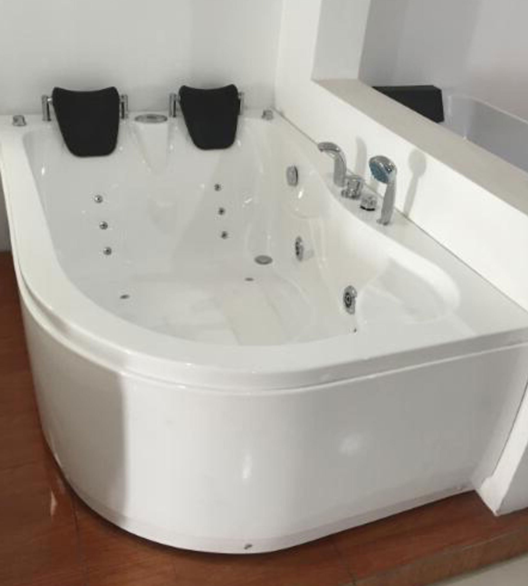 Havana - Whirlpool Corner Bathtub for 2 persons 170 X 115 cm ...