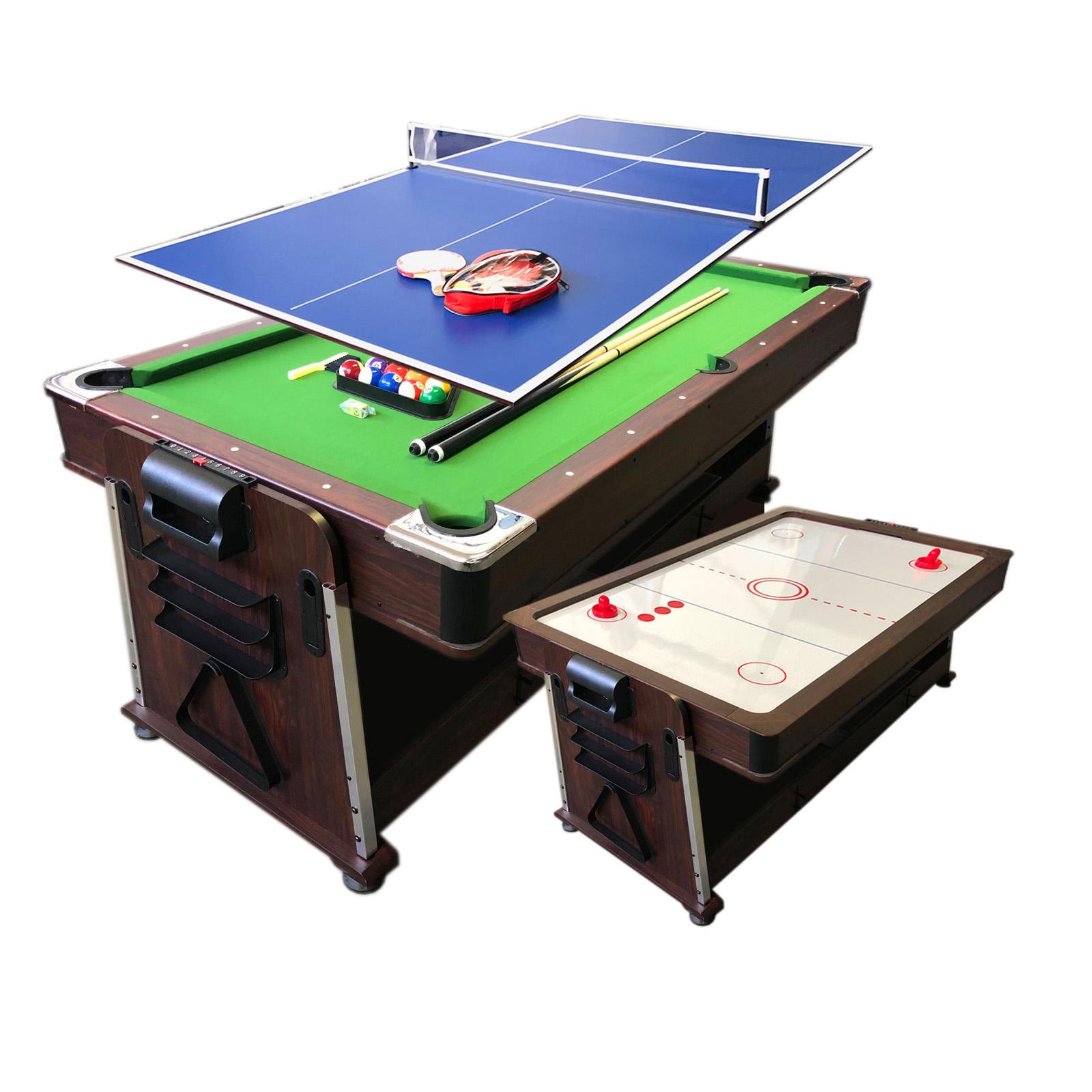 7ft Pool Table Multigame Billiards Air Hockey Table Tennis Mattew