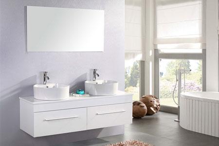 Mueble cuarto de baño 150 cm Lavabos incluidos - White Cardellino ...