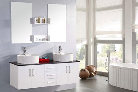 Mueble cuarto de baño 150 cm Lavabos incluidos - Lion