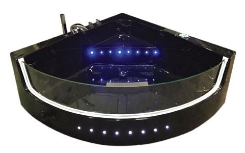 black shark baignoire baln o chromoth rapie 140 x 140 cm. Black Bedroom Furniture Sets. Home Design Ideas