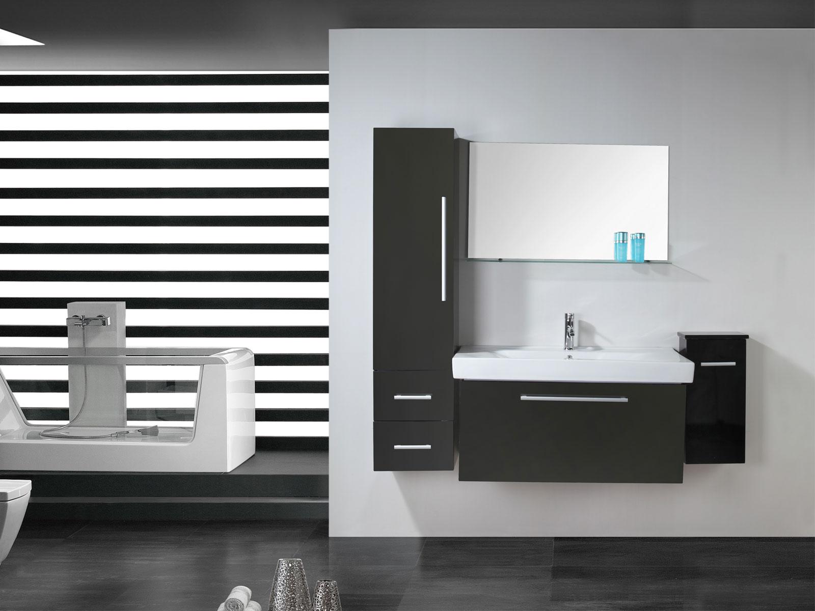 london meuble salle de bain 100 cm lavabo e colonne compris simbashoppingfr. Black Bedroom Furniture Sets. Home Design Ideas