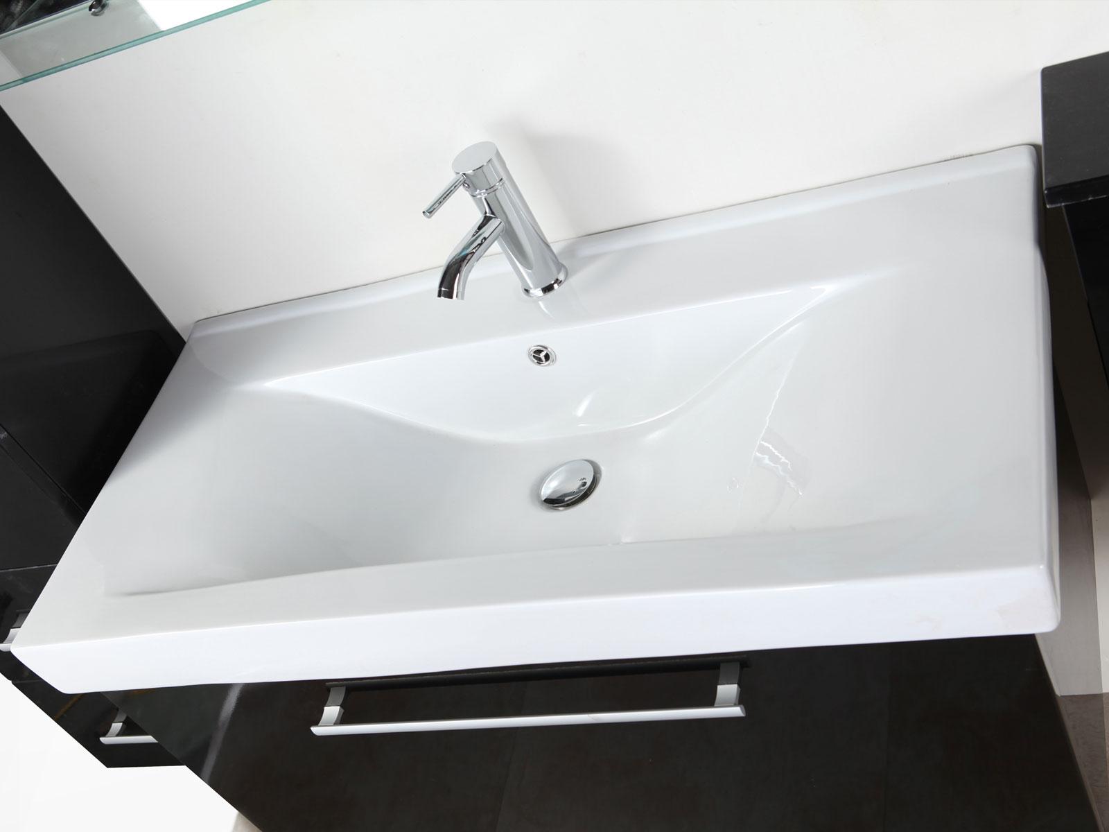 London meuble salle de bain 100 cm lavabo e colonne for Colonne salle de bain 100 cm