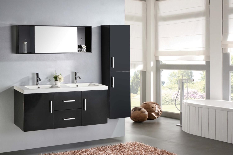 Malibu 39 meuble de salle de bain 150 cm colonne et lavabo inclus simbashopping france for Lavandini bagno design