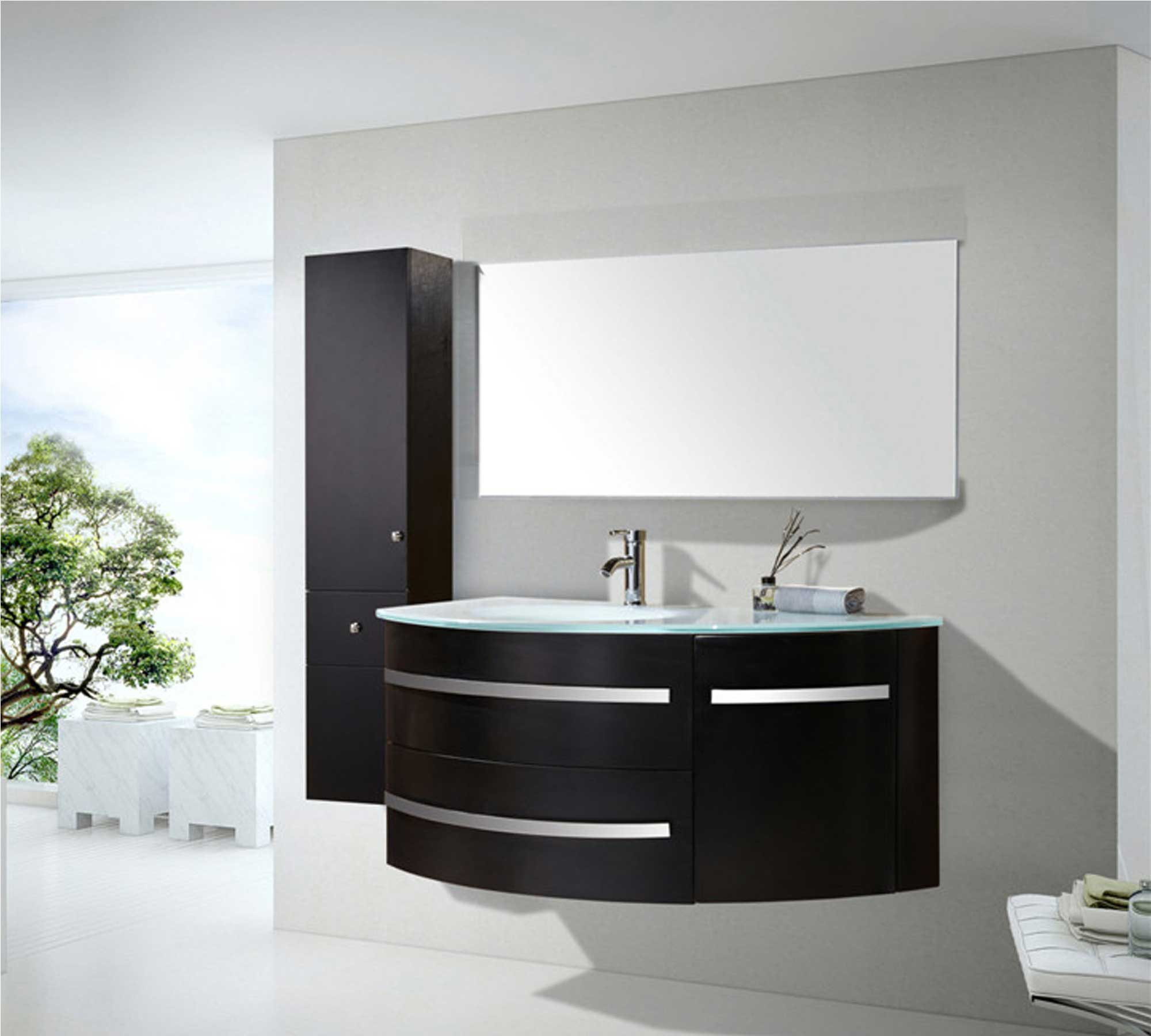 Black ambassador meuble de salle de bain 120 cm colonne for Lavabo et meuble de salle de bain