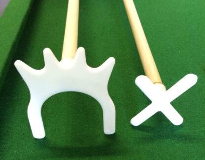 Biliardo 8 piedi con accessori per carambola e snooker panno verde