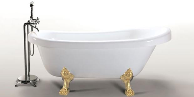 Margherita   bianca con piedini oro   simba shopping