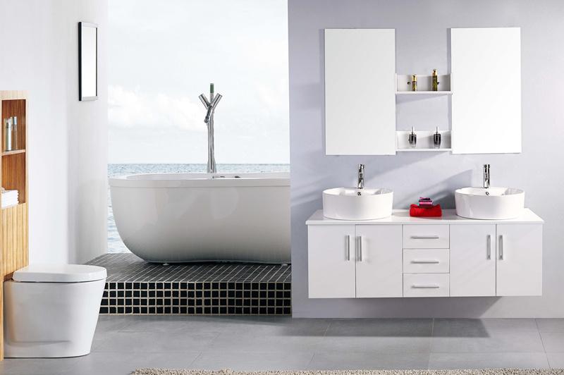 White Lion - Mobile Bagno Arredo Bagno 150 cm Doppio lavabo incluso -