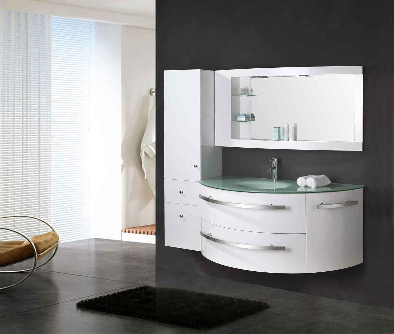 Mobile Bagno Arredo Bagno 120 cm Colonna e lavabo incluso - Ambassador -