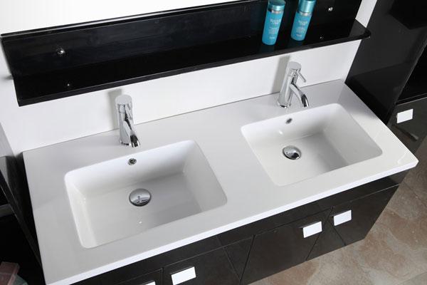 Elegance - Mobile Bagno Arredo Bagno 120 cm Colonne e doppio lavabo ...