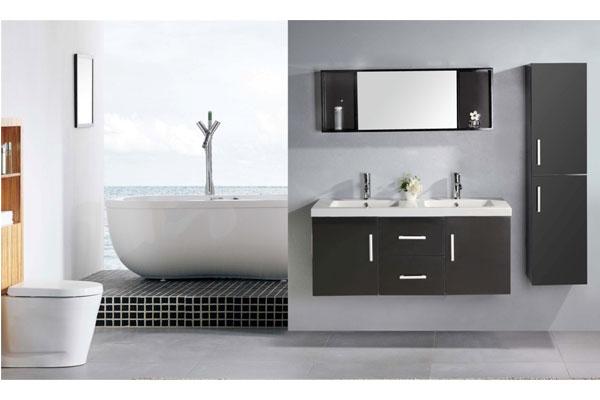 Mobile Bagno Arredo Bagno 120 cm Colonna e doppio lavabo inclusi ...