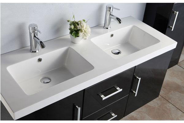 Mobile bagno arredo bagno 120 cm colonna e doppio lavabo - Lavandino bagno moderno ...