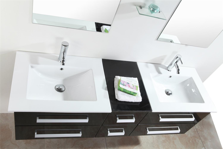 Mobile Bagno Arredo Bagno 150 cm Doppio lavabo incluso - Rome