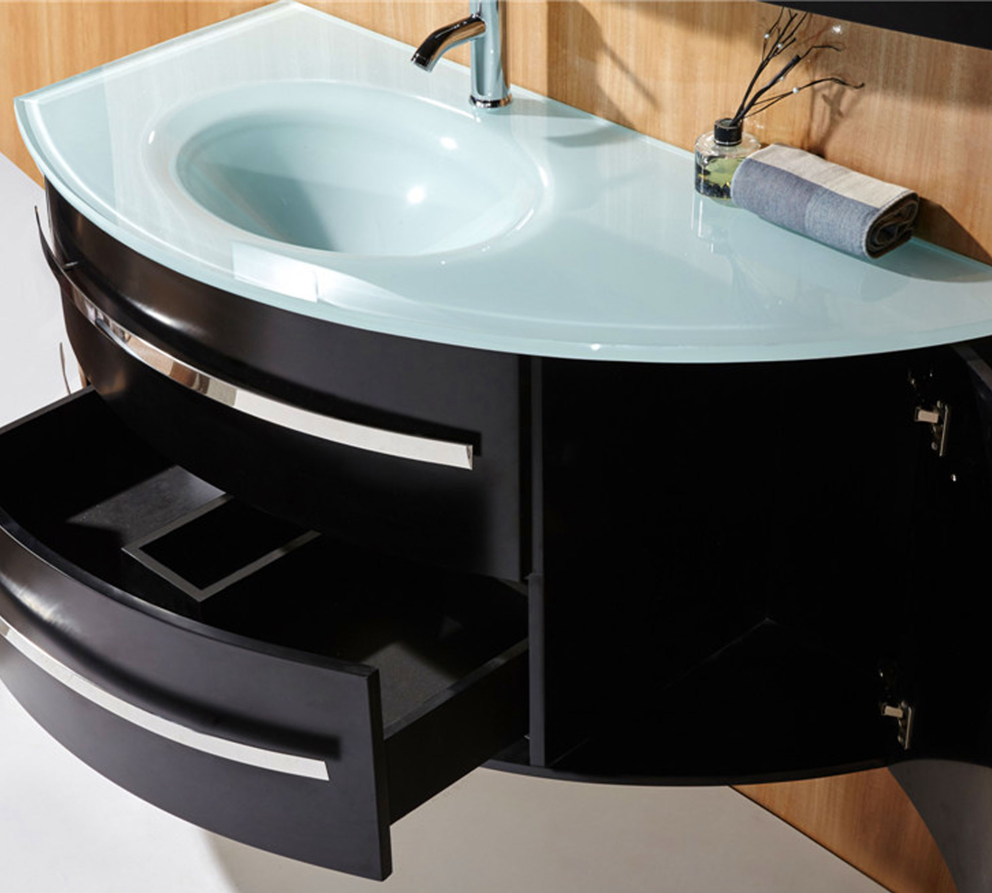 black ambassador mobile bagno arredo bagno 120 cm colonna e lavabo inclusi. Black Bedroom Furniture Sets. Home Design Ideas