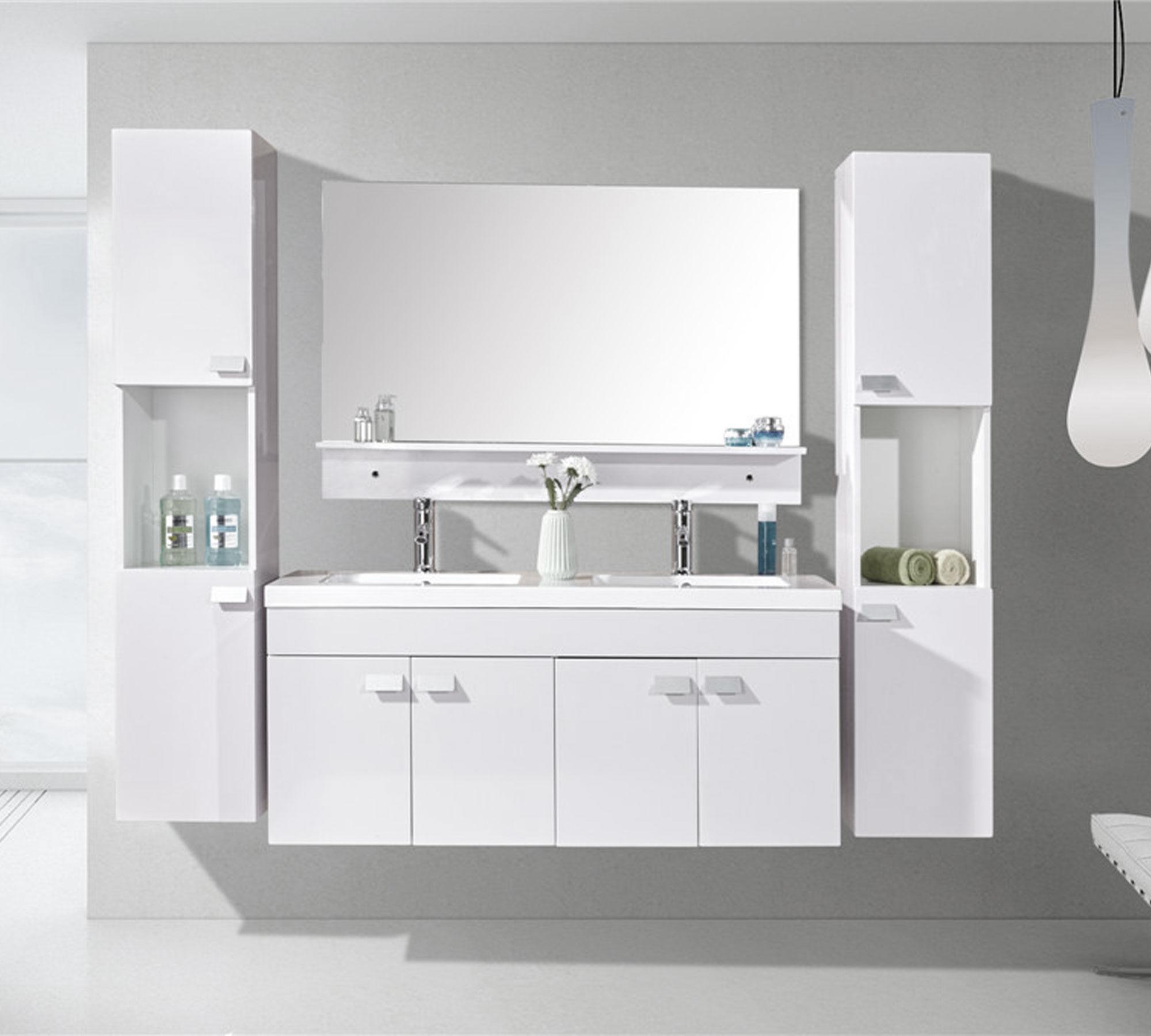 White Elegance - Mobile bagno arredo bagno 120 cm doppia colonna e ...