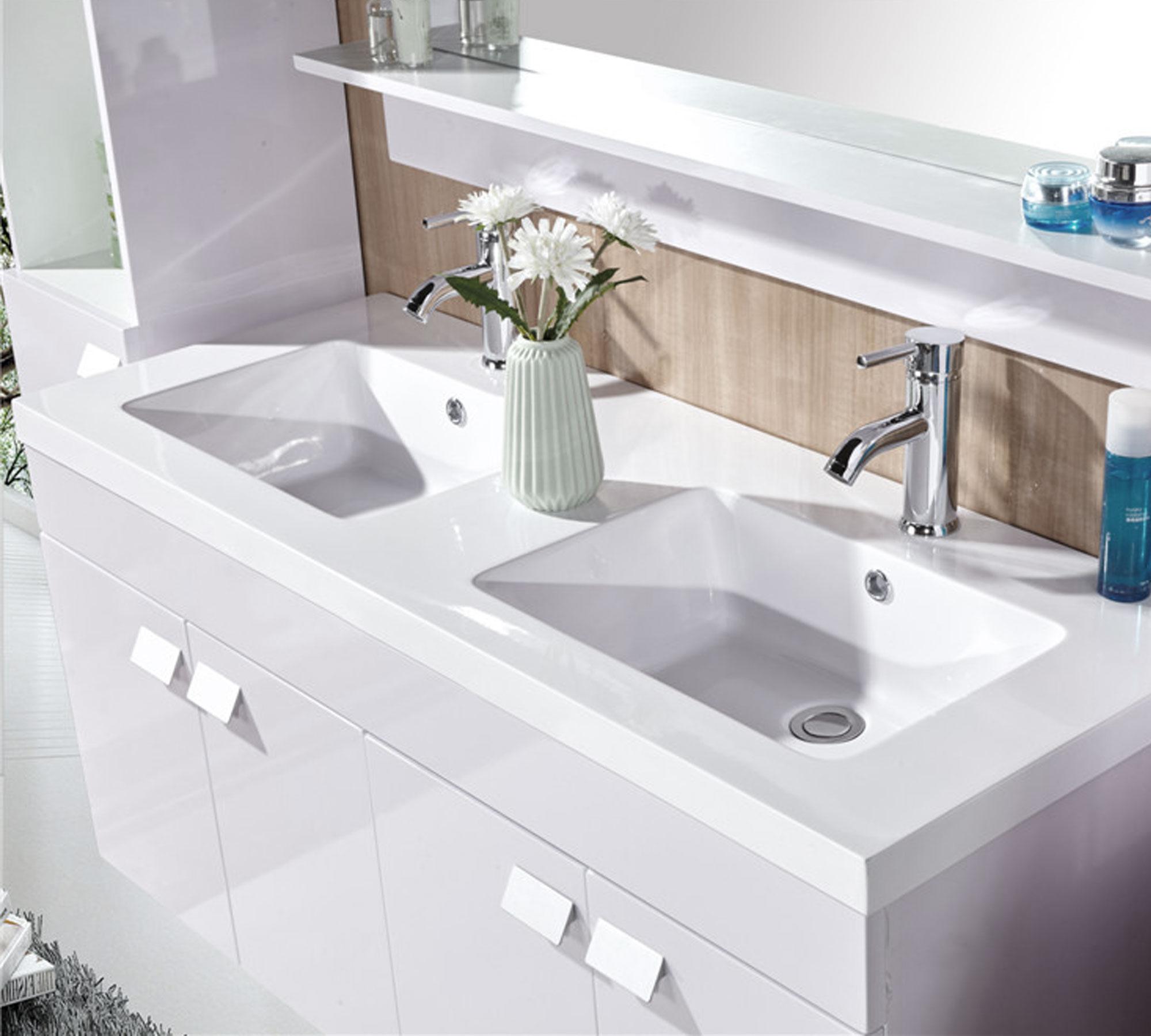 White elegance mobile bagno arredo bagno 120 cm doppia for Mobile bagno 120 cm