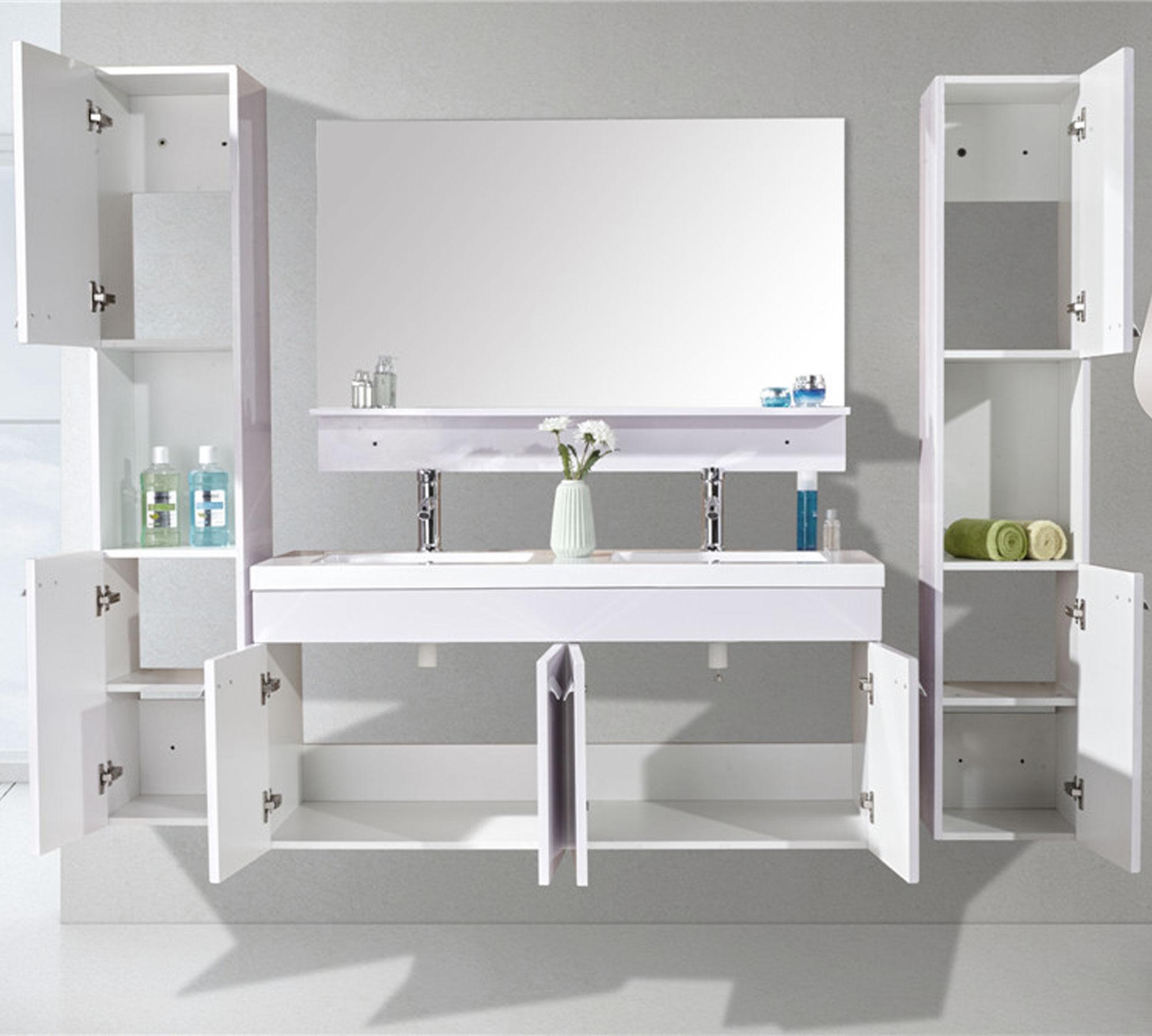 mobile bagno arredo bagno 120 cm doppia colonna e lavabo inclusi white elegance. Black Bedroom Furniture Sets. Home Design Ideas