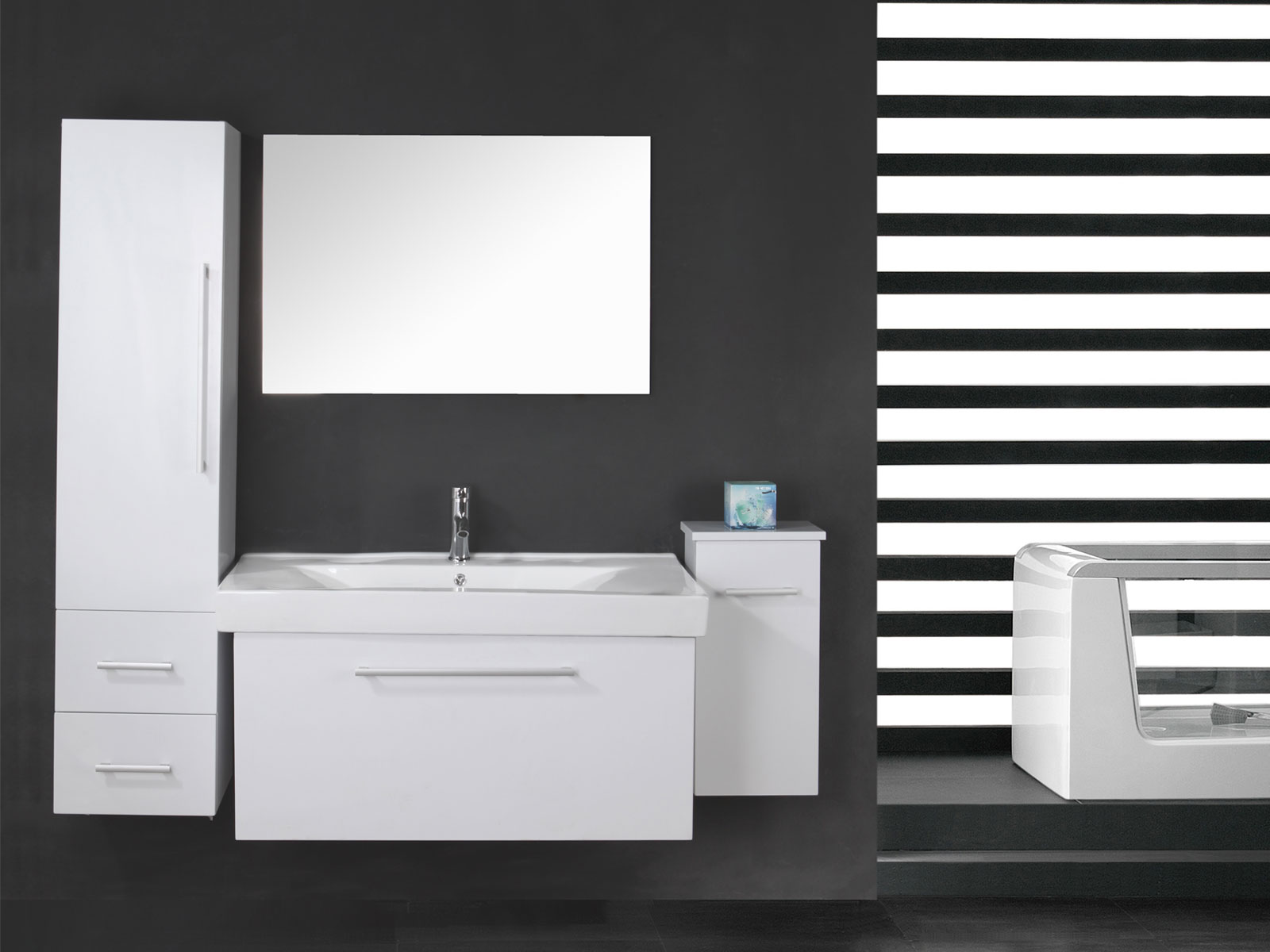 stunning mobile bagno 100 cm contemporary. Black Bedroom Furniture Sets. Home Design Ideas