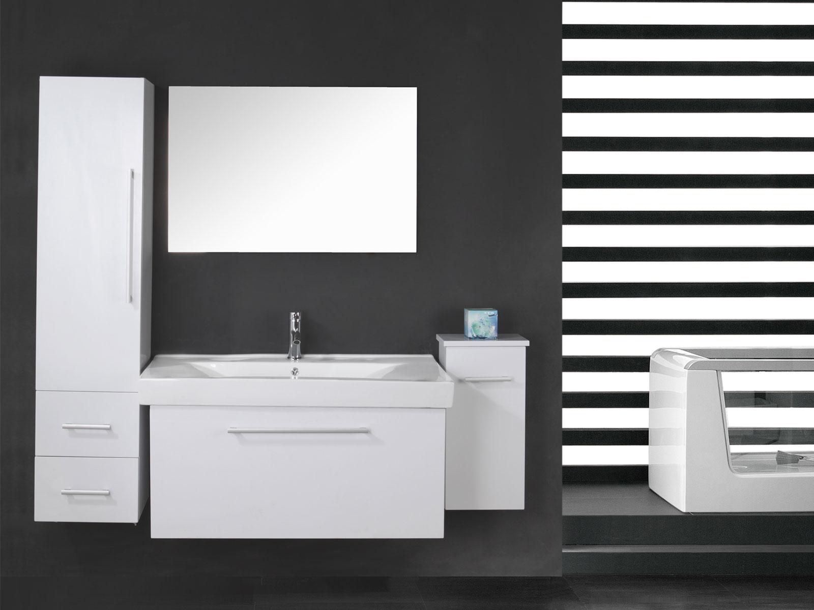 White London - Mobile bagno arredo bagno 100 cm lavabo e colonne ...