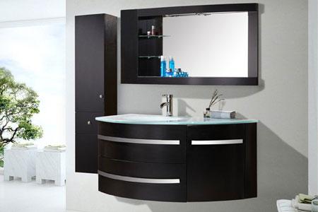 Mobile bagno arredo bagno 120 cm colonna e lavabo inclusi - Black Ambassador