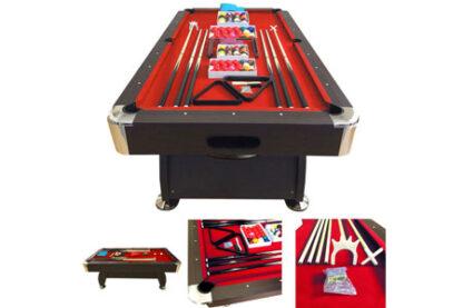 Tavolo da biliardo rosso