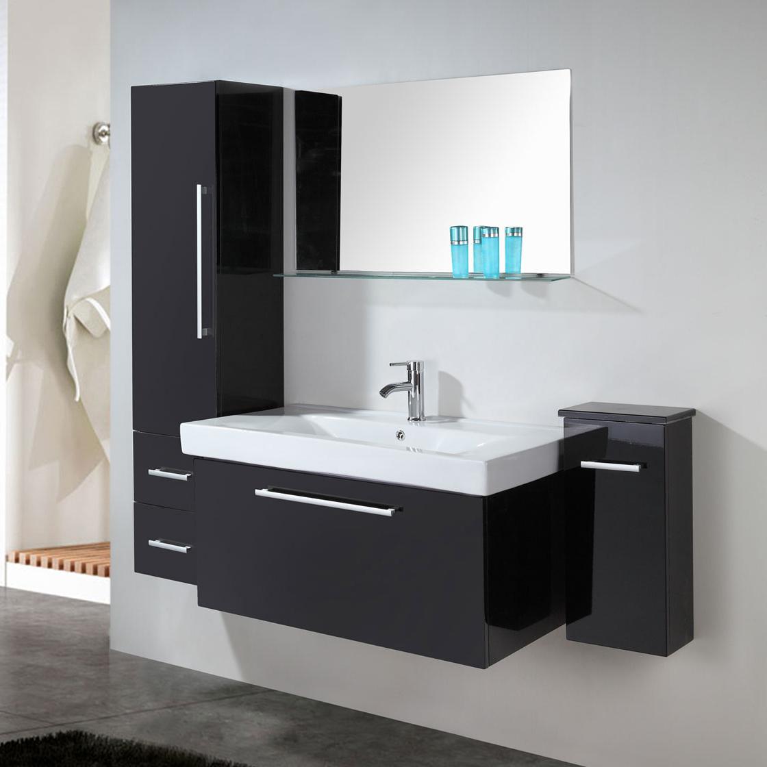 Lavabo A Colonna Design mobile bagno arredo bagno 100 cm lavabo e colonne incluse - london