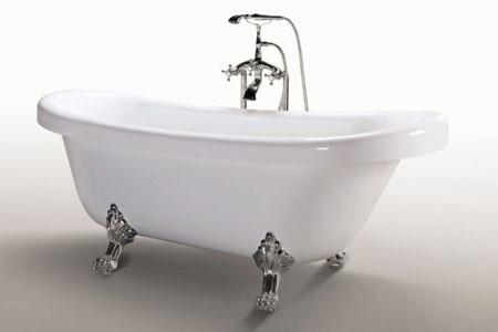 Vasca Da Bagno Retro : Vasca da bagno freestanding bianca retrò 170 x 80cm margherita