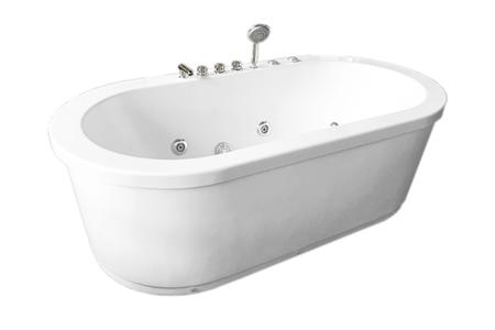 Vasche Da Bagno Idromassaggio : Vasca da bagno idromassaggio bianca freestanding cm cm rio