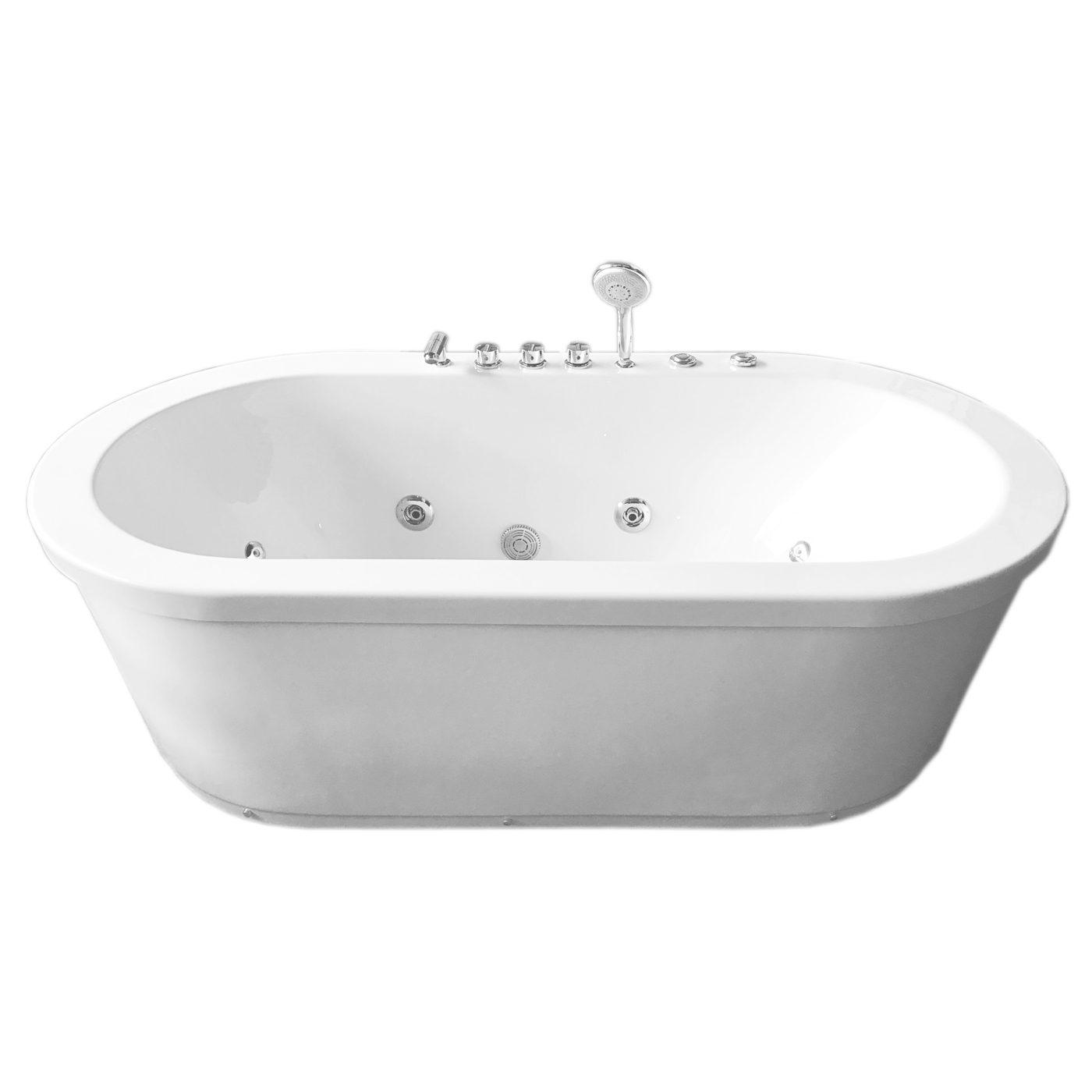 Vasca da bagno idromassaggio bianca 185cm x 95cm freestanding - Vasca da bagno nera ...