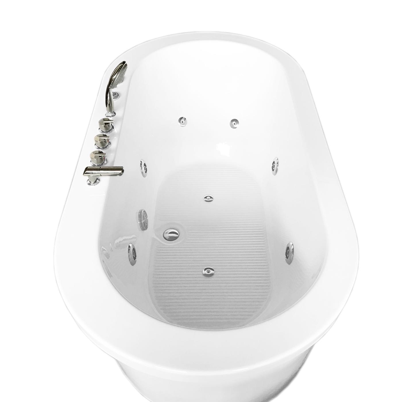 Vasca da bagno idromassaggio bianca 185cm x 95cm freestanding - Vasca da bagno in francese ...