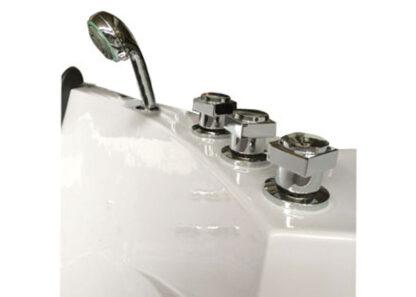 vasca idromassaggio 140 x 140 cm Doppia Pompa e Riscaldatore - Rubinetteria inclusa